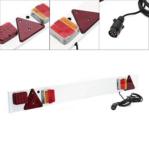 Anhänger LED Lichtleiste 7-polig, Breite 137cm & 6m Kabel, u.a. Rücklicht, Bremslicht & Blinklicht