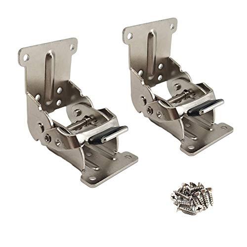 2 staffe pieghevoli per blocco di estensione (0-90-180 gradi di blocco) per gambe da tavolo in...