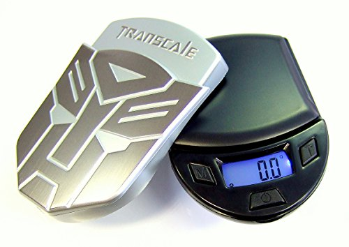 Transscale Design Digital Scale Accuracy of 0.1 g up to 500 g Pocket Scale Accurate Scales Gold Scales Table Scales with Plastic Weighing Surface for Letters
