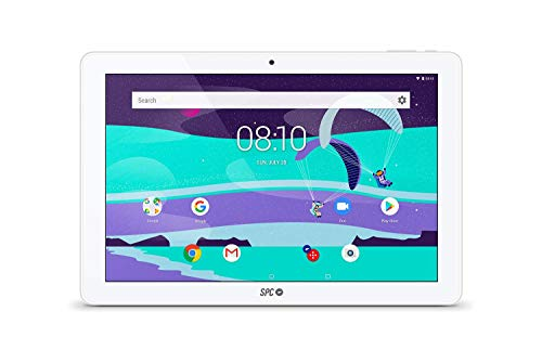 SPC Gravity - Tablet con pantalla IPS HD 10.1 pulgadas, memoria interna 16GB, RAM 2GB, WiFi y Bluetooth – Color Blanca