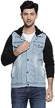 Campus Sutra Men Hooded Denim Jacket