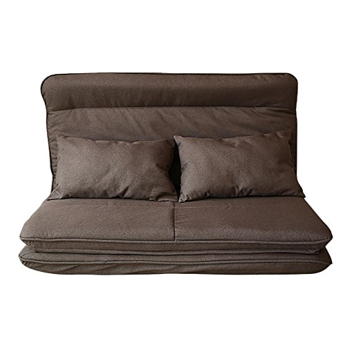L-R-S-F Sofa Paresseux Créatif Pliable Amovible Lavable Canapé-lit Chambre Tissu Canapé-lit (Couleur : Lumière Couleur Café)