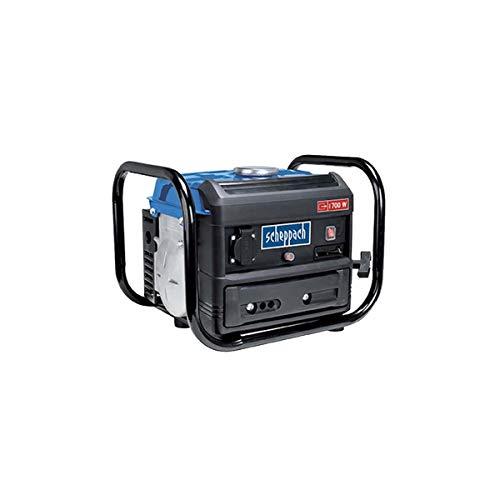 Scheppach Benzin Stromgenerator SG1000 (Stromerzeuger max.700 W, 4 Liter Tank, leicht und kompakt, leichter Transport des Notstromaggregats, Gummifüße, Tragegriff, Seilzugstarter)