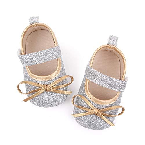 YWLINK Bebé NiñA Zapato De Princesa con Cinta MáGica para 0-31 Meses NiñOs Primeros Pasos Zapatos De Cuero con Lazo Casual Moda Antideslizante Flor Suave Suela