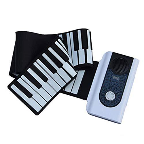 Portable pianoforte tastiera numerica, professionista Smart Keyboard mano Roll Piano 88 tasto MIDI Piano Piano tastiera portatile Digital Home (Colore: 88 tasti) wxt