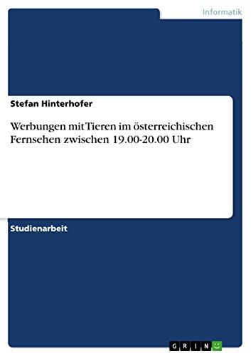 Werbungen mit Tieren im österreichischen Fernsehen zwischen 19.00-20.00 Uhr