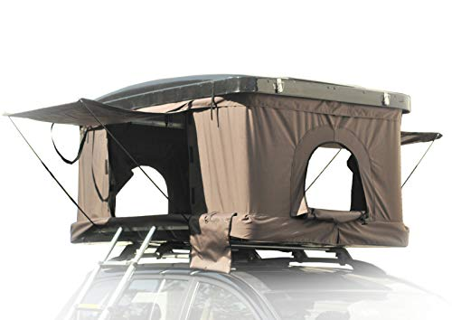 Campoint Hard Shell 2~3 Persons Rooftop Tent for All Season Include Ladder, Rack Bar and Shoes Bag...