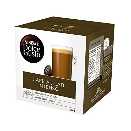 Cápsulas de Café con Estuche Nescafé Dolce Gusto 45831 Café Au Lait Intenso (16 uds)