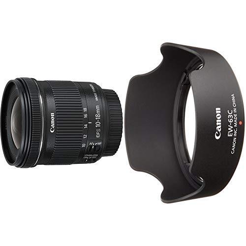 Canon EF-S 10-18mm 1:4.5-5.6 IS STM Objektiv schwarz &  EW-63C Streulichtblende (EF-S 18-55mm f/3.5-5.6 IS STM Objektiv) schwarz