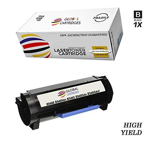 GLB Premium Quality Compatible Dell 331-9756 / X5GDJ Black Laser Toner Cartridge for Dell Laser B5460, B5460DN, B5465, B5465DN, B5465DNF Printers