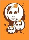 Poster 50 x 70 cm: Twiggy Mathmos Orange von Jasmin! -