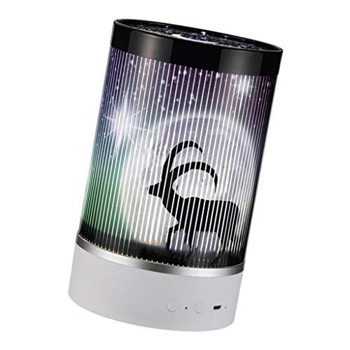 MERIGLARE Diseño Creativo de La Lámpara de Proyección de Luz Nocturna en Movimiento Animal para El Dormitorio de Los Niños