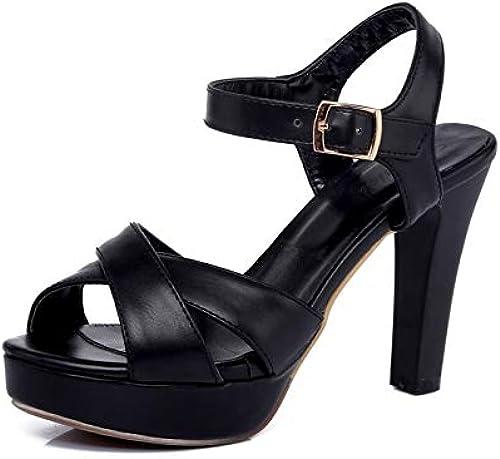 HommesGLTX Spike Talons Hauts Hauts Ankle Strap Sandales D'été Femmes Chaussures Plate-Forme Grand Taille 33-43 Femme Chaussures Chaussures  vente discount en ligne