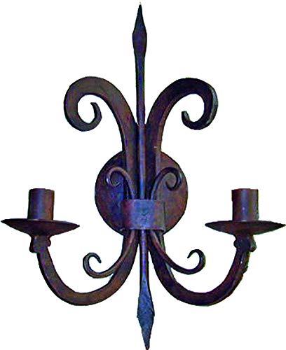 Lampada da parete in ferro battuto ART 5650