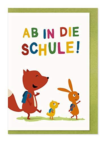Komma3 zum Schulanfang/Ab in die Schule! mit farbigen Briefumschlag/Illustration, 61-135