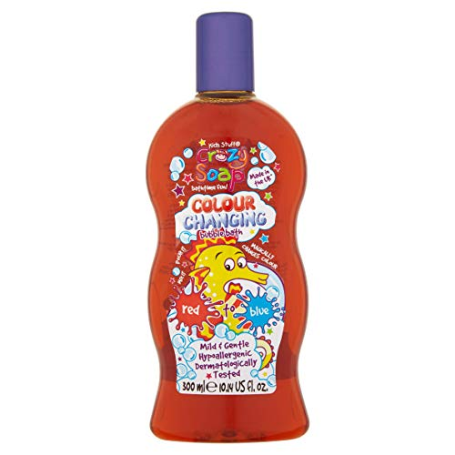 Kids Stuff Crazy Soap Colour Changing Bubble Bath, 300ml, from Red to Blu