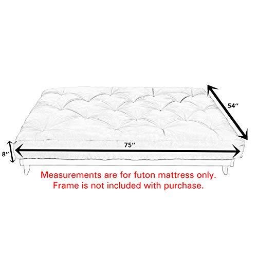Mozaic Full Size Gel Memory Foam Futon Mattress