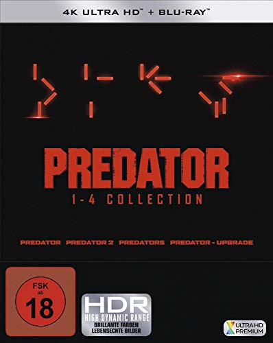 Predator 1-4 - Box (4K Ultra HD) (4 BR4K) (+ 4 BRs) [Blu-ray]