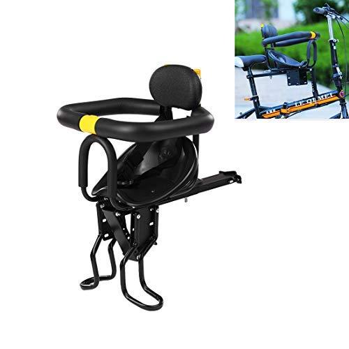 FBBM Fahrrad Kindersitz, Einstellbar Fahrradsitz Kind Vorne mit Leitplanke, Rückenlehne, Pedal, Babysitz Fahrrad Sattel für Faltbares Fahrrad MTB