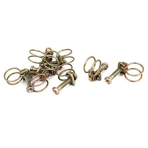 Aexit 8Stk Zwingen, Klemmen & Spanner Bronzen Ton Einstellbarer Bereich Stahldraht Rohrschellen und-Schraubzwingen Wasserrohr Schlauchschelle