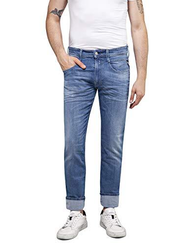 Replay Herren Anbass Slim Jeans, Blau (Medium Blue 9), 33W / 34L
