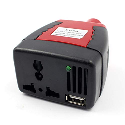 ZaiQu 1pc 150W DC 12V a 220V AC mechero USB Fuente de alimentación de energía del Coche del Adaptador del inversor Cargador 0.5A Puerto de Audio Transformador