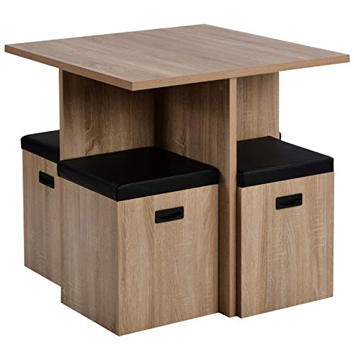 T-ara Soft and comfortable Equipt With 4 Storage Flatness, Bistro Table And Chair, Coffee Table And Chair, Diminished Space Kitchen Dining Table And Chair, 5-piece Kitchen Dining Table And Chair fashi