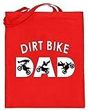 generisch Dirt Bike – Bikes, bicicleta de montaña, Dirt Jump, bicicletas, salto de suciedad, ciclismo, deportistas – Bolsa de yute (con asas largas), color, talla 38cm-42cm
