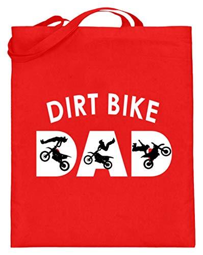 generisch Dirt Bike - Bikes, Mountainbikes, Dirt Jump, Fahrräder, Schmutzsprung, Radsport, Sportler - Jutebeutel (mit langen Henkeln) -38cm-42cm-Rubinrot
