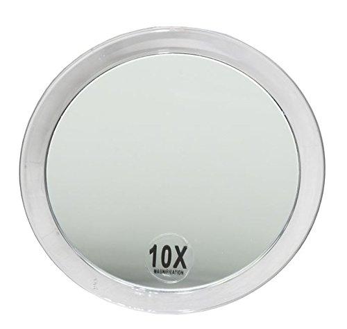 Runder Kosmetex Kosmetik-Spiegel Ø15cm mit verschiedenen Vergrößerung und Saugnäpfen, 10-fach