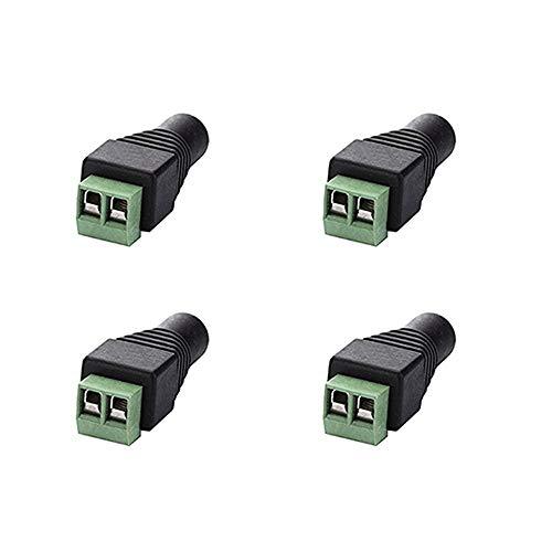 RENJIFAN 10 unids 12V 5.5mm x 2.1mm Conector Macho Hembra DC Adaptador de Enchufe de Potencia para 5050 3528 5060 Cámaras CCTV de la luz de la Tira LED de un Solo Color (Color : Female 4pcs)