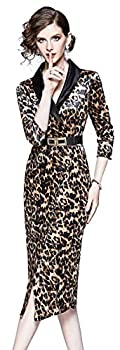 Women s Velvet V Neck Long Sleeves Blazer Midi Dress with Belt