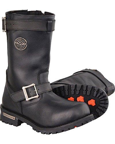 "Milwaukee Leather Men's 11"" Classic Engineer Boot Wide Black 14 EE"