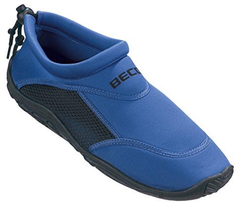 BECO Badeschuhe / Surfschuhe für Damen und Herren, Blau/Schwarz, 38, 9217-60