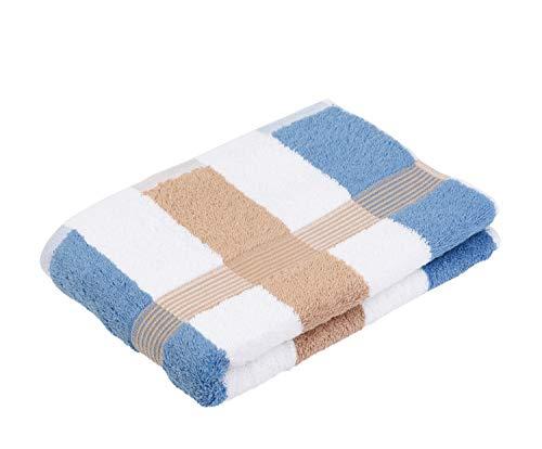 Price comparison product image Gözze Bath Towel,  100% Cotton,  70x140 cm,  New York,  Stripes,  Chestnut / White / Fjord,  555-9700-5