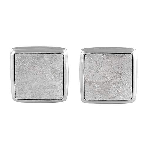 Starborn Gibeon Meteorit Sterling Silber Manschettenknöpfe