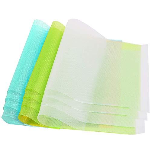 12 Stück Kühlschrankmatten Antibakterielle rutschfeste entziehen Feuchtigkeit und Gerüch Kühlschrank Pad abwaschbar und DIY zuschneidbar Kühlschrank Matten (45 * 29cm )