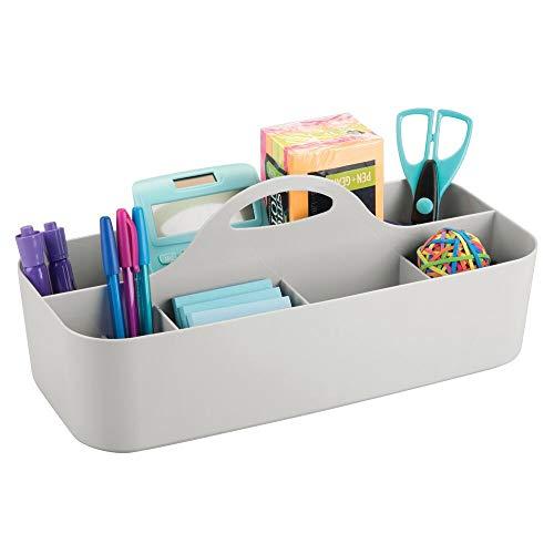 mDesign Schreibtisch-Organizer - perfekte Schreibtischablage für Scheren, Stifte, Klebezettel & Co. - Schreibtisch-Ordnungssystem mit 11 praktischen Fächern