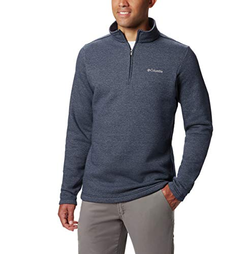 Columbia Men's Hart Mountain III Half Zip, Collegiate Navy Solid, L