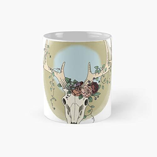 Floral Skull I Classic Mug Best Gift Funny Coffee Mugs 11 Oz