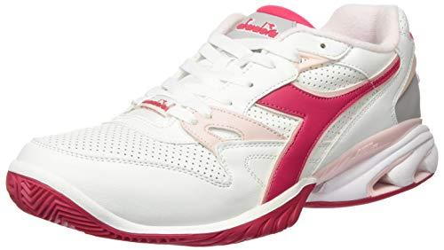 Diadora Speed Star K Ace AG Allcourtschuh, Scarpe da Tennis Donna, Bianco Rosso Virtuale Rosa, 42 EU