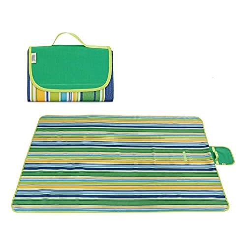 CHENNA Manta al Aire Libre y Picnic A Prueba de Arena e Impermeable Portátil Mat de Playa para familias Camping Senderismo Festivales