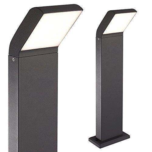 LED Außenleuchte schwarz Außenlampe Wandleuchte Standleuchte Aluminium Wegeleuchte 1504-800 Standleuchte ohne Bewegungsmelder