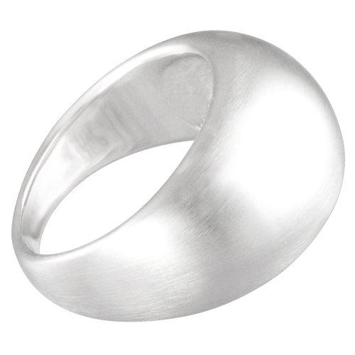 Vinani Ring gewölbt schlicht mattiert massiv Sterling Silber 925 Größe 64 (20.4) RGM64