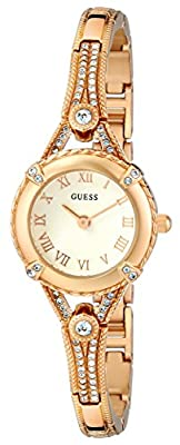GUESS Women's Stainless Steel Petite Vintage Inspired Watch