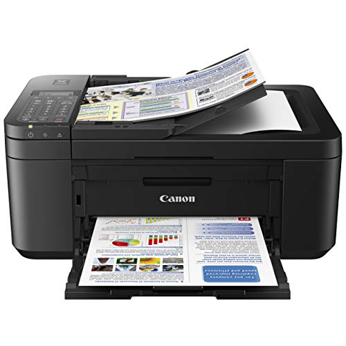 Canon PIXMA TR 45xx Series All-in-One Color Wireless Inkjet Printer Home Office - Black - Print, Scan, Copy, Fax - Auto 2-Sided Borderless Printing, 4800 x 1200 dpi, Support Alexa and Google Assistant