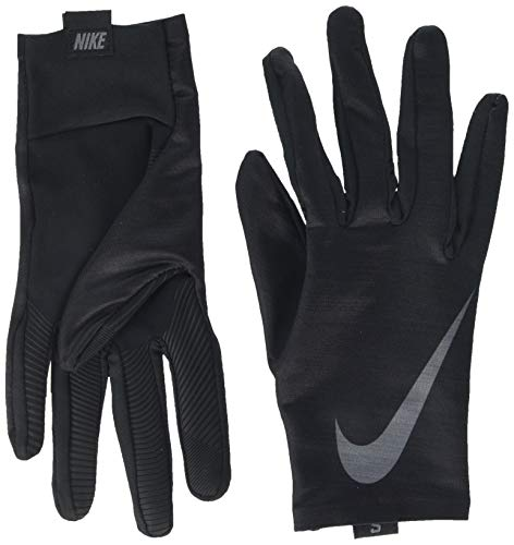 Nike Men's Base Layer Gloves (Black/White, Large)