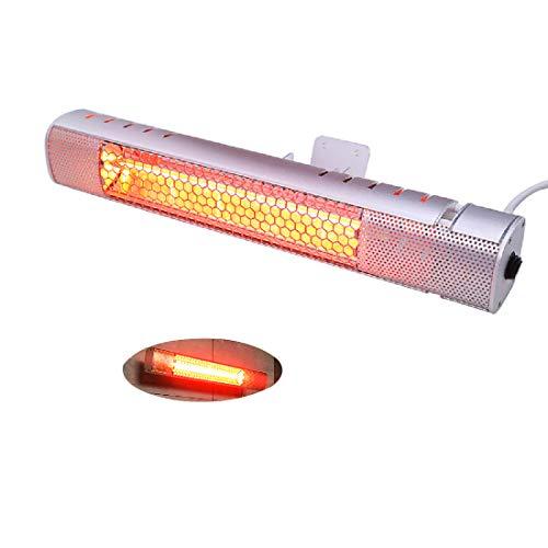 Zhangcui Radiador de ambiente, calefactor colgante, 800 W, eléctrico, infrarrojos para terraza, resistente al agua, IP65, calefactor de pared y de pie para casa, sauna, certificación CE