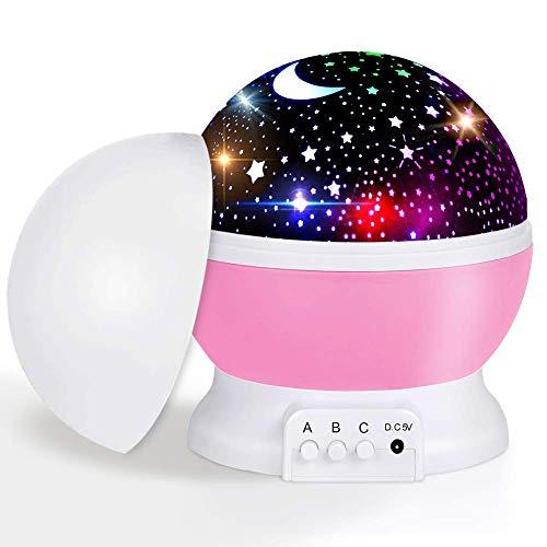 LED Sternenhimmel Projektor Sternenhimmel Lampe Rotierende Projektionslampe Kinder Nachtlicht Baby Sterne Lampe Baby Nachttischlampe Perfekt Geschenke für Party Weihnachten Ostern Halloween (lila)