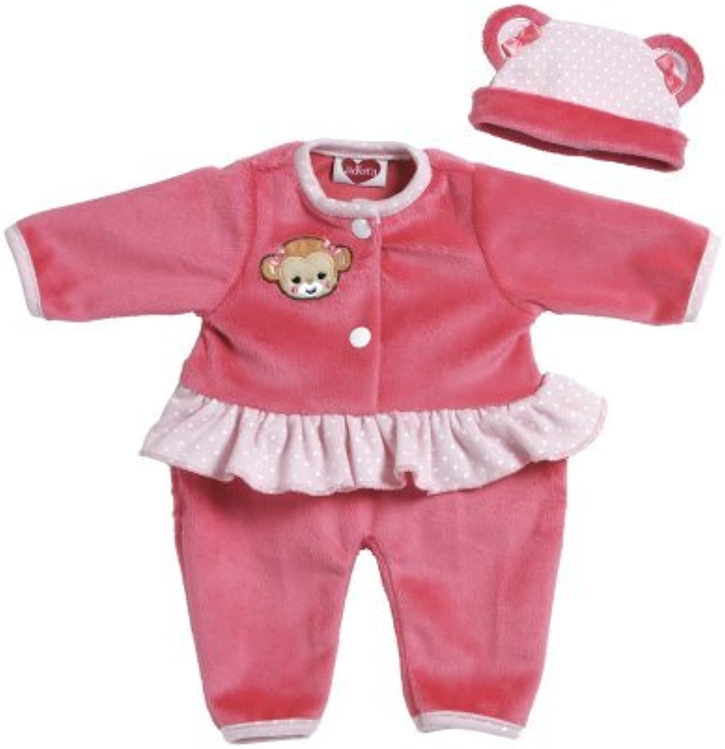 Adora Giggle Time Baby Doll Pink Monkey Outfit by Adora